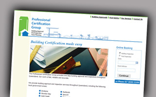 Professional Certificaton Group website